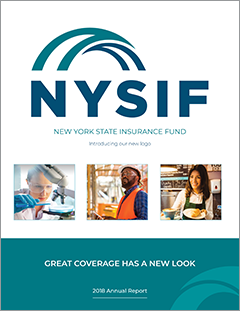 Cover image link to NYSIF 2018 Annual Report full pdf